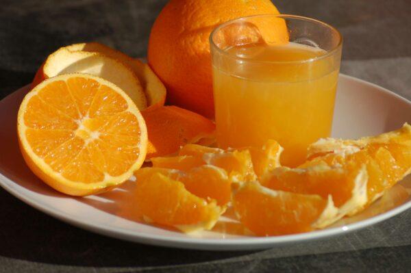 naranjas de cultivo orgánico