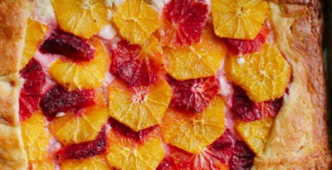 pastel naranja sanguina