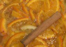 preparación de la mermelada de naranja