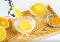 receta de sorbete de naranja ecológica