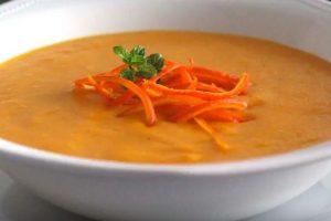 receta de crema de zanahoria y naranja
