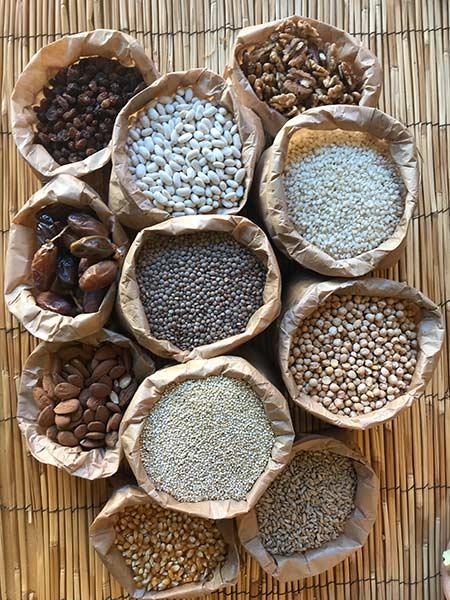 cereales ecológicos y frutos secos