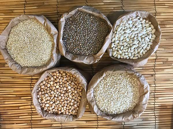 legumbres y cereales ecológicos