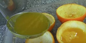 gelatina con naranjas ecológicas